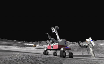 Is that dude grilling some emu steak on the freaking moon? Metal!
