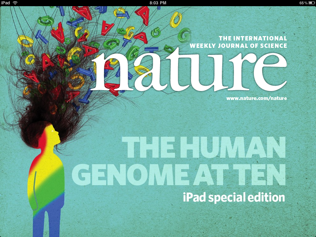 "The first hints of a new art form: Nature's ""The Human Genome at Ten"" - a magazine special feature sold separately."